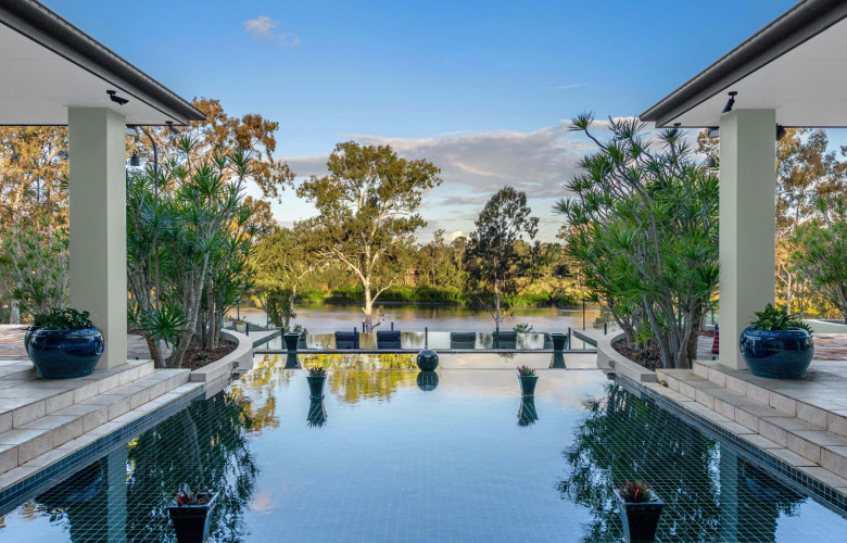 Brisbane riverfront acreage with modern mansion | The Real