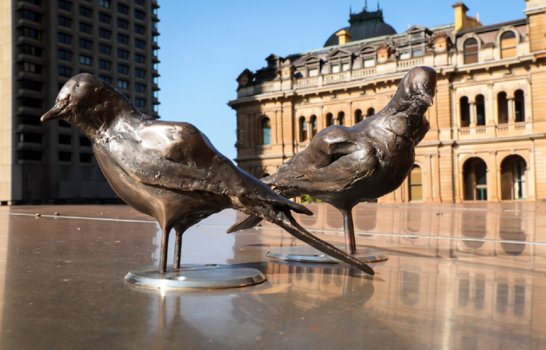 Image: Katherine Griffiths / City Of Sydney. Delicate Bronze Birds From ...